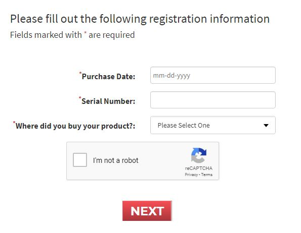 nutribullet warranty registration