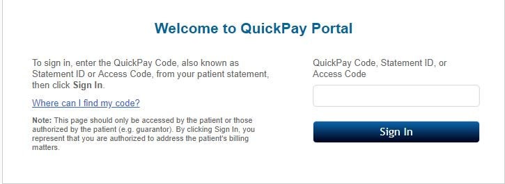 quickpayportal login