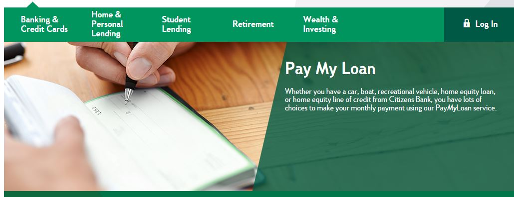 citizens bank pay loan