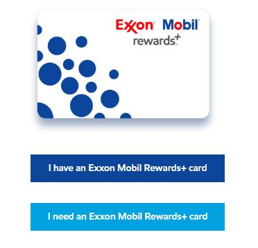 Exxonmobil rewards plus register card