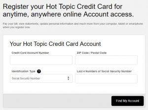 hot topic credit card