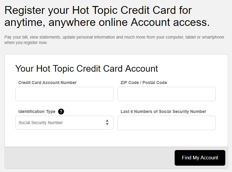hot topic credit card