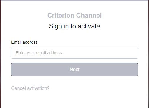 www.criterionchannel.com/activate