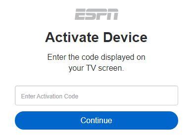 www.espn.com/activate tv code
